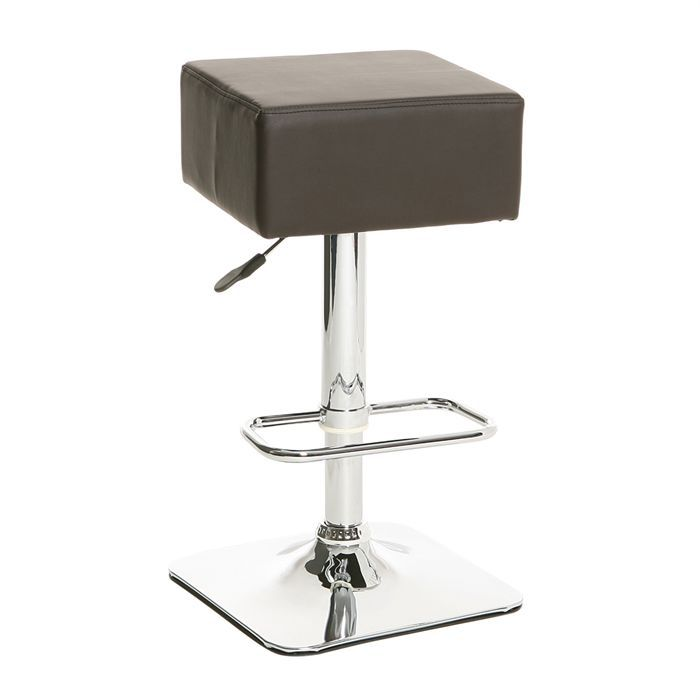 carre tabouret de bar chocolat achat vente tabouret cdiscount. Black Bedroom Furniture Sets. Home Design Ideas