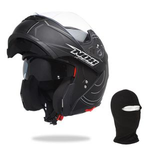 CASQUE MOTO SCOOTER NOX Casque Modulable N964 Circle + Cagoule OFFERTE