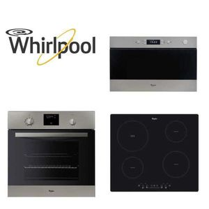 LOT APPAREIL CUISSON Pack WHIRLPOOL Encastrable Four+Micro-ondes+Plaque