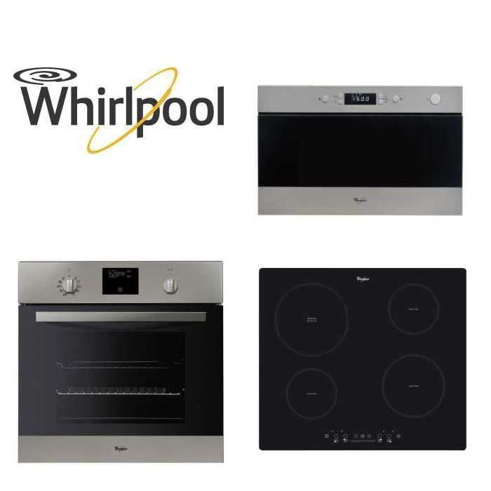 pack whirlpool encastrable four micro ondes plaque achat. Black Bedroom Furniture Sets. Home Design Ideas