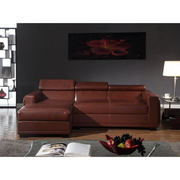 technos canap cro te de cuir et simili 3 places. Black Bedroom Furniture Sets. Home Design Ideas