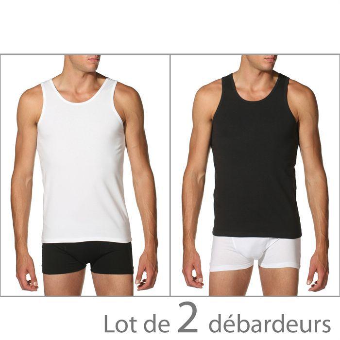 DIM 2 Débardeurs DRY & COOL Homme Blanc et