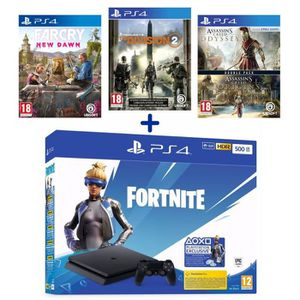 CONSOLE PS4 Pack PlayStation : PS4 500 Go Noire + Assassin's C