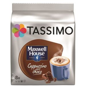 CAFÉ TASSIMO Maxwell House Cappucchoco - 5 paquets de 8
