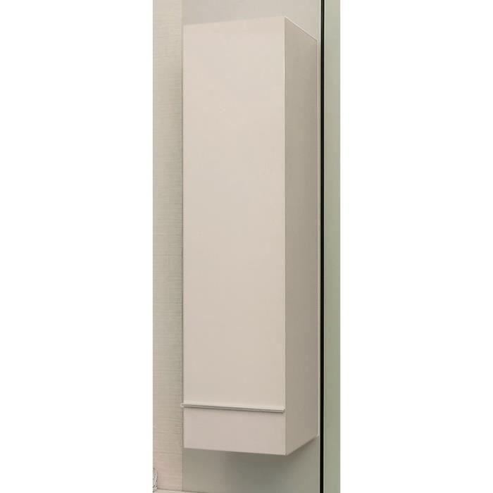 COLONNE - ARMOIRE SDB TERRY Colonne de salle de bain L 30 cm - Blanc laq
