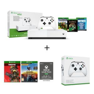 CONSOLE XBOX ONE Xbox One S All Digital + 5 jeux : Fortnite, Sea of