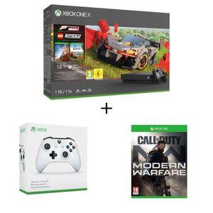 CONSOLE XBOX ONE Xbox One X 1 To + Forza Horizon 4 + DLC LEGO + 1 m