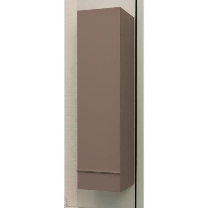 TERRY Colonne de salle de bain L 30 cm - Chocolat et marron laqué