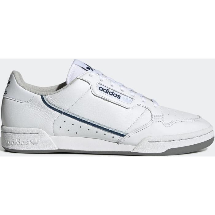 ADIDAS Baskets Continental 80 Blanc et Bleu Homme