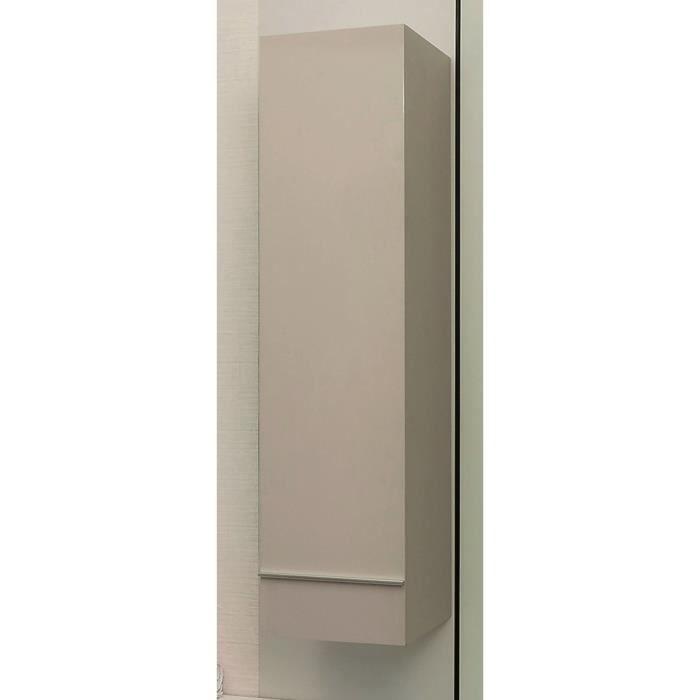 TERRY Colonne de salle de bain L 30 cm - Taupe et gris laqué
