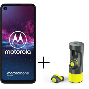 SMARTPHONE PACK MOTOROLA One Action Denim Blue 128 Go + Écout