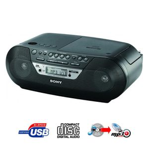 RADIO CASSETTE / CD SONY ZS-RS09CP Black
