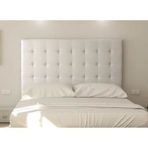 TÊTE DE LIT SOGNO Tête de lit capitonnée - Simili blanc - L 18