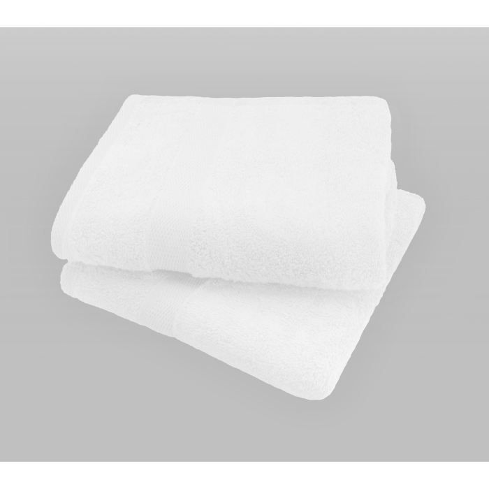 SERVIETTES DE BAIN CASATXU Set 2 serviettes 50x100cm BLANC OPTIQUE