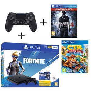 CONSOLE PS4 PS4 500 Go Noire + Manette PS4 DualShock 4 Noire V