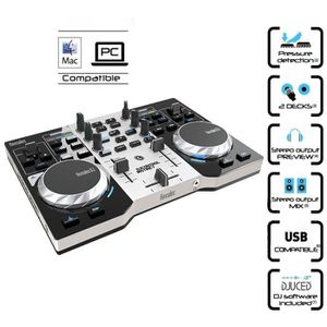 hercules djcontrol instinct table de mixage 2 voies usb rca table de mixage avis et prix pas. Black Bedroom Furniture Sets. Home Design Ideas