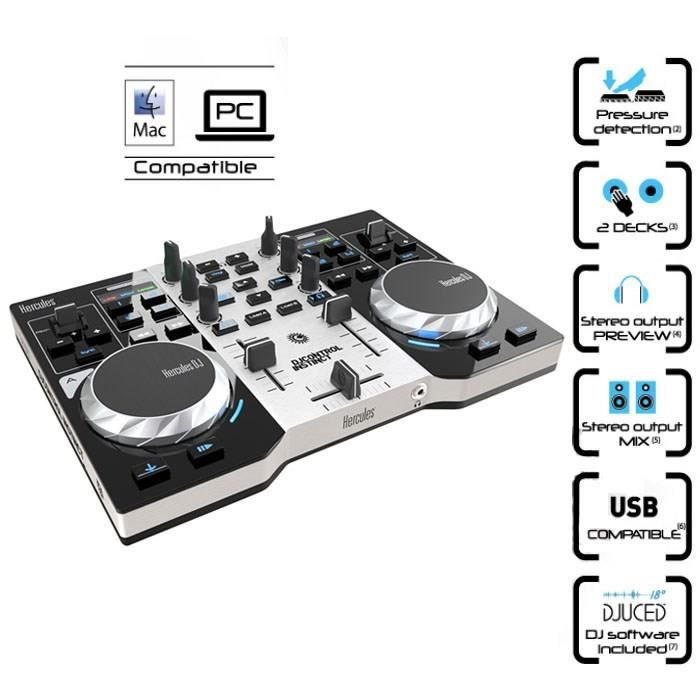 table de mixage 2 voies usb