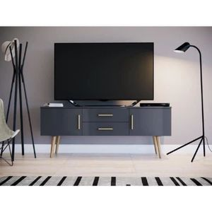 meuble tv scandinave gris achat vente pas cher. Black Bedroom Furniture Sets. Home Design Ideas