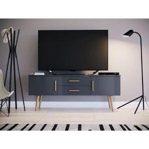 MEUBLE TV DALLAS Meuble TV scandinave mélaminé gris mat - L