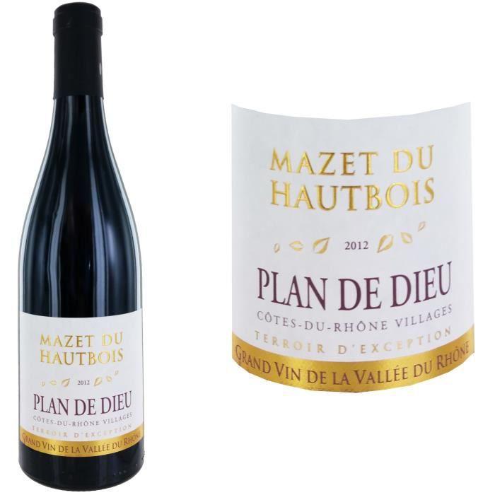 VIN ROUGE Mazet du Haut Bois 2012 Plan de Dieu - Vin rouge d