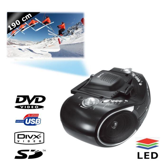 Récepteur audio AIPTEK D20 Vidéoprojecteur LCoS - Port USB - Lecte