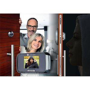JUDAS - ŒIL DE PORTE SMARTWARES Judas de porte vidéo avec écran 3,5 pou