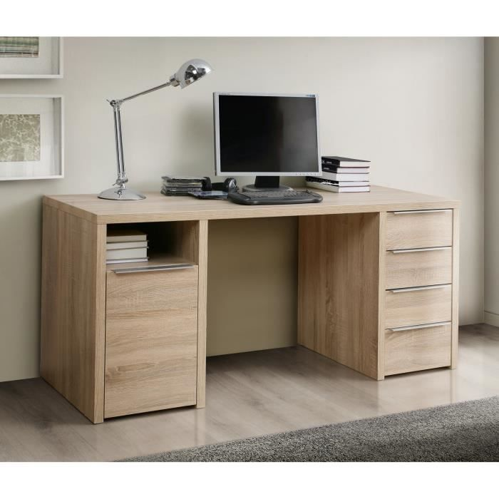 calpe bureau ch ne sonoma l 160 cm achat vente bureau calpe bureau 160x73 cm ch ne bois. Black Bedroom Furniture Sets. Home Design Ideas