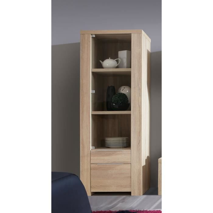 calpe vitrine 71 x 187 cm ch ne sonoma clair achat. Black Bedroom Furniture Sets. Home Design Ideas