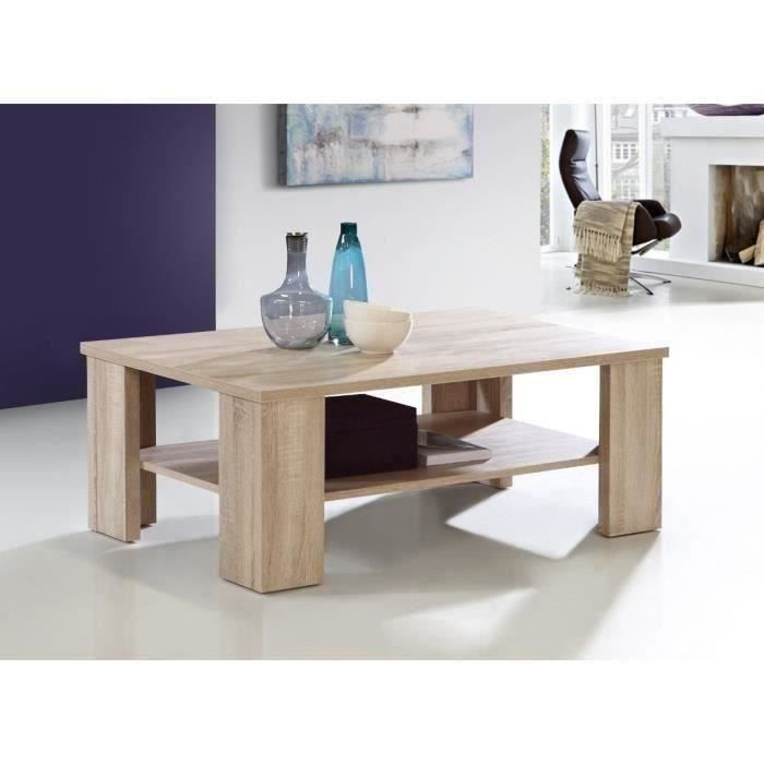 Finlandek table basse tuore 110x42 5cm beige achat for Table basse laquee beige