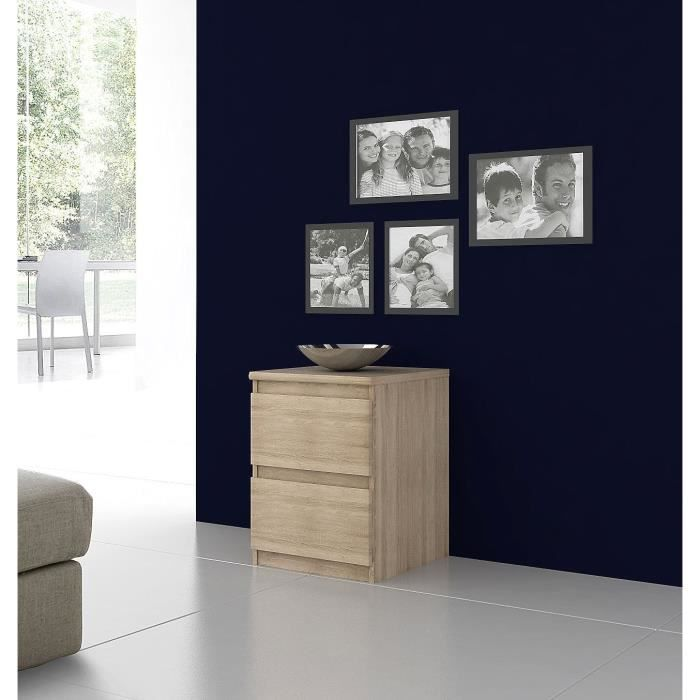 finlandek chevet natt contemporain en bois agglom r. Black Bedroom Furniture Sets. Home Design Ideas