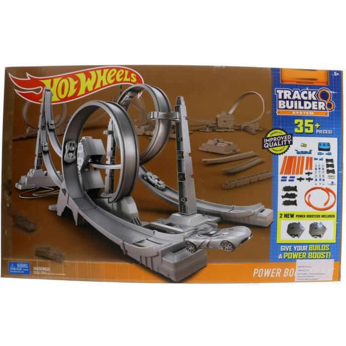 Finest hot wheels piste double super lanceur with circuit for Circuit hot wheels mural