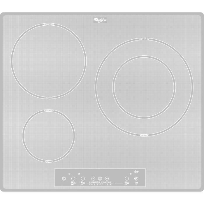 Destockage whirlpool acm680newh table de cuisson - Table induction blanche 3 foyers ...