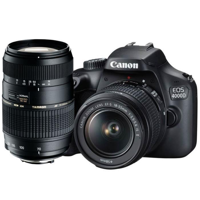 APPAREIL PHOTO RÉFLEX CANON EOS 4000D Reflex + Objectif AF 70-300mm