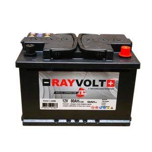BATTERIE VÉHICULE Batterie à décharge lente RAYVOLT 12V 80AH