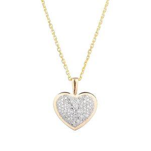 SAUTOIR ET COLLIER LE DIAMANTAIRE Pendentif Coeur Or jaune et Diamant