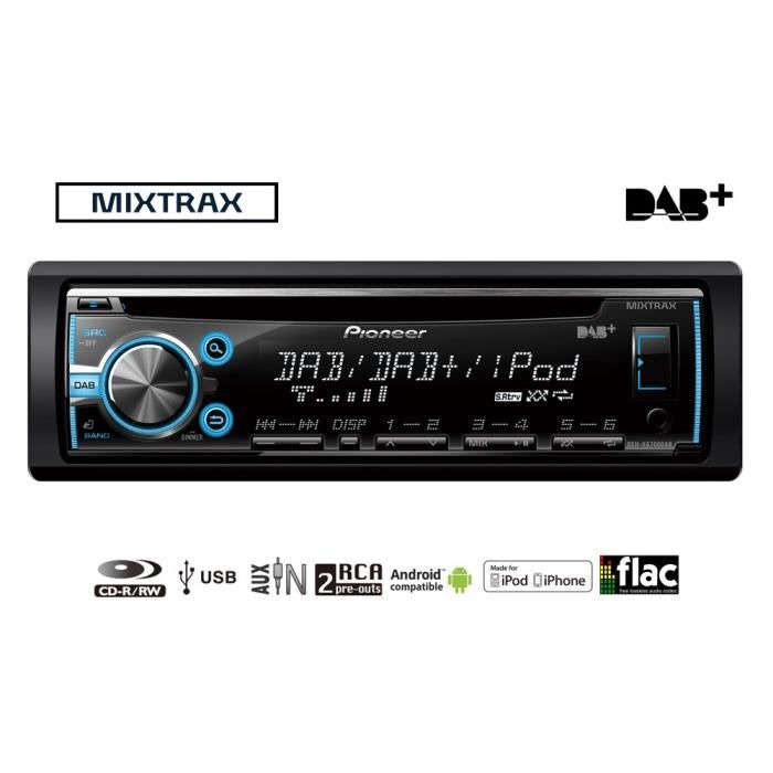 pioneer deh x6700dab autoradio rnt dab achat vente. Black Bedroom Furniture Sets. Home Design Ideas