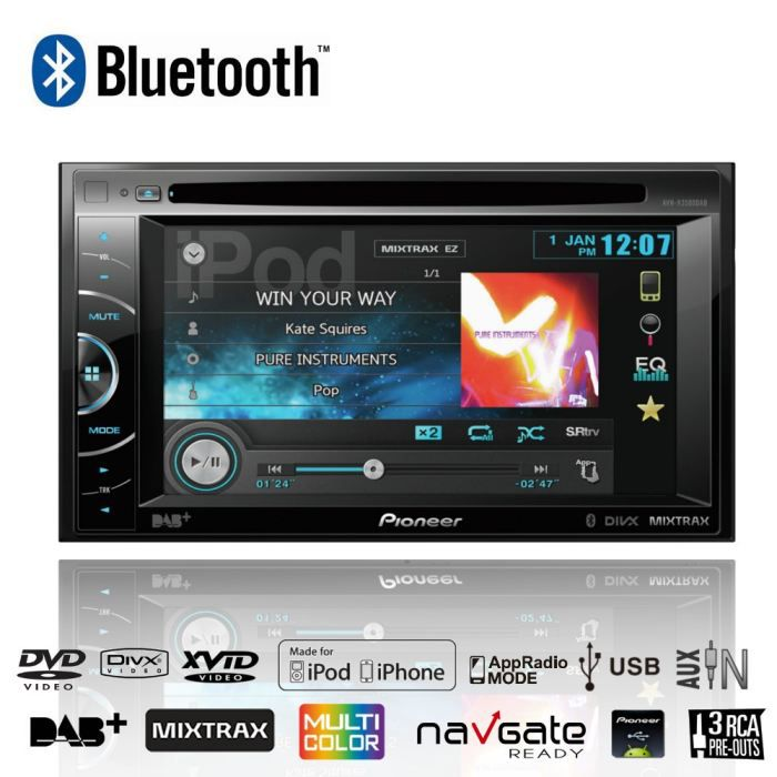 pioneer avh x3500dab autoradio dvd 2din bt mixtrax achat. Black Bedroom Furniture Sets. Home Design Ideas