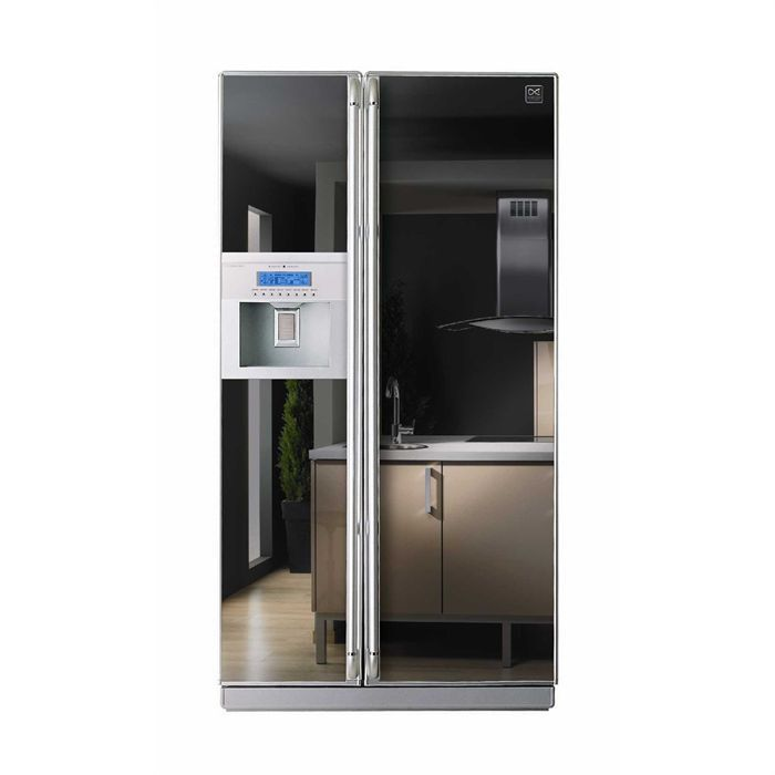 refrigerateur americain daewoo miroir frst22dam po le cuisine inox. Black Bedroom Furniture Sets. Home Design Ideas