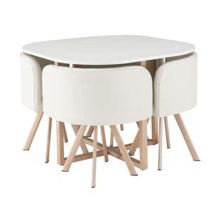 TABLE À MANGER COMPLÈTE LUND Ensemble table à manger 4 personnes style ind