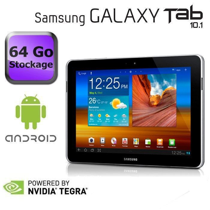 samsung galaxy tab 10 1 wifi 64 go blanc prix pas cher cdiscount. Black Bedroom Furniture Sets. Home Design Ideas