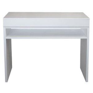 CONSOLE SLIDE Console style contemporain blanc brillant -