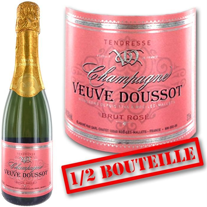 1 2 bouteille veuve doussot brut ros achat vente champagne 1 2 veuve doussot ros cdiscount. Black Bedroom Furniture Sets. Home Design Ideas