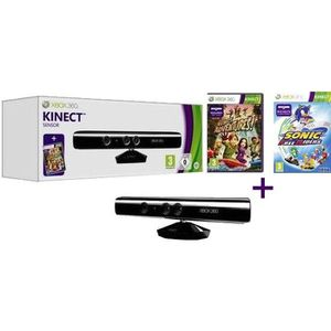 CÂBLE JEUX VIDEO Pack Kinect Xbox 360 + Kinect Adventures + SONIC F