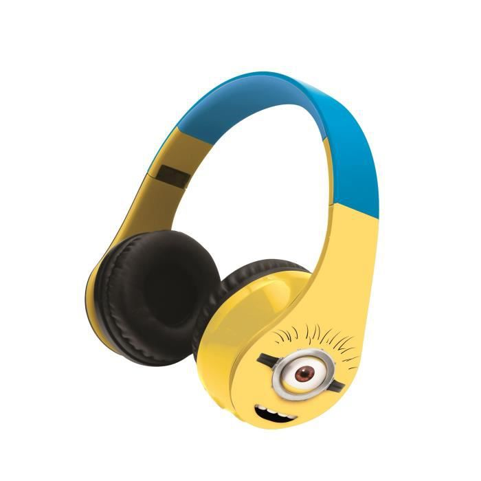 moi moche mechant casque audio bluetooth minions achat vente casque audio enfant cdiscount. Black Bedroom Furniture Sets. Home Design Ideas
