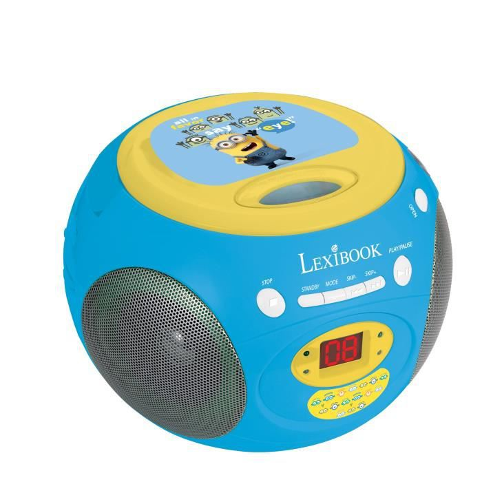 les minions lecteur radio cd enfant achat vente. Black Bedroom Furniture Sets. Home Design Ideas