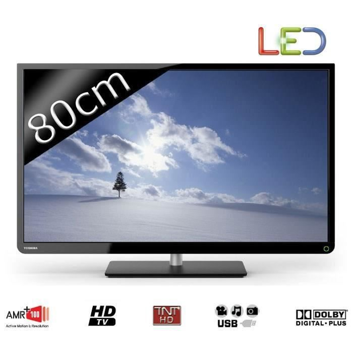 destockage toshiba 32e2533dg tv led hd 80cm 32. Black Bedroom Furniture Sets. Home Design Ideas