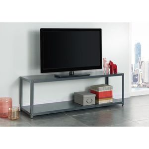 meuble tv en metal gris anthracite style industriel. Black Bedroom Furniture Sets. Home Design Ideas