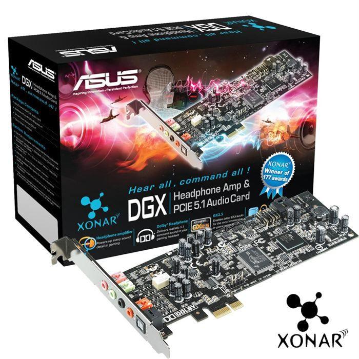 CARTE SON INTERNE Asus XONAR DGX PCI Express 5.1
