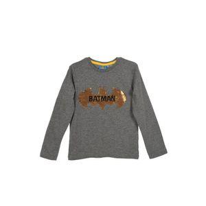T-SHIRT BATMAN T-shirt Sequins Gris Anthracite Enfant Garç