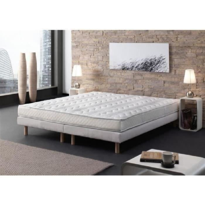 creasom ensemble matelas 2 sommiers memosoft 180x200 cm mousse ferme 20kg m 2. Black Bedroom Furniture Sets. Home Design Ideas